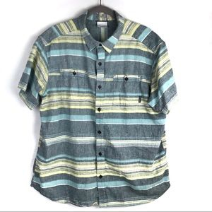 Columbia | Men's Striped Button Down Shirt Size XL